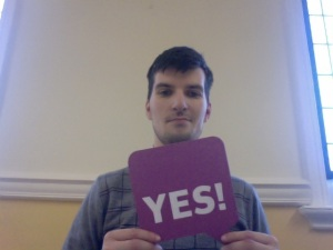 Michael Carchrie Campbell supports the Yes campaign for May 5th referendum