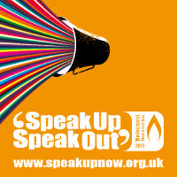 speak up now square banner