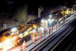 Track Renewal System 4 in action on the West Coast main line