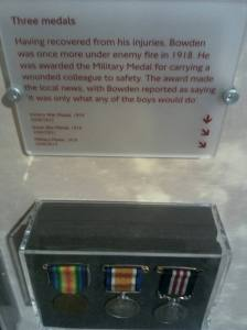Victory War Medal, Great War Medal, Military Medal of Philip Sidney Bowden. Pic: Helen Weir.