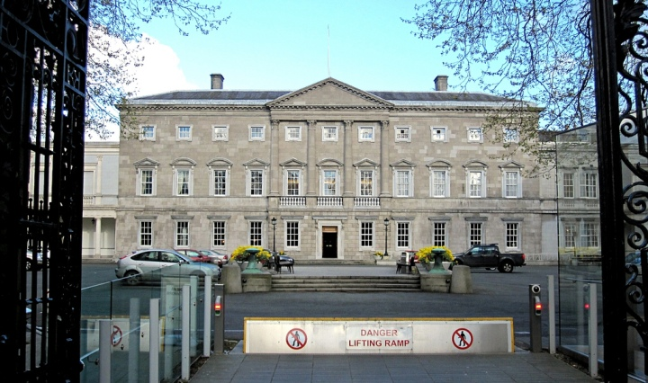 Leinster House, Dublin. Photo by Justin Pickard